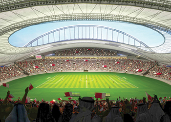 Artist's impression of Khalifa International Stadium.