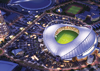 Khalifa International Stadium ... painted with eco-friendly Durasol.