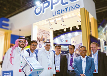 Opple was present at the Middle East Electricity exhibition in Dubai last month.