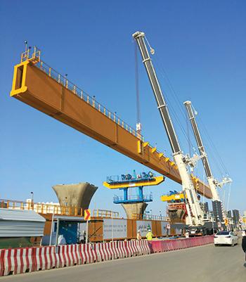 Terex cranes at work on the Riyadh Metro.