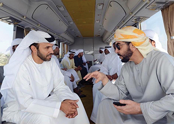 Al Mafraq Al Ghweifat highway ... Sheikh Hamdan updated on the project.