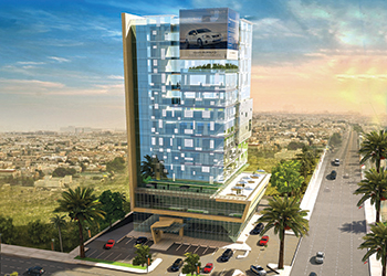 The CMC commercial tower in Riyadh.