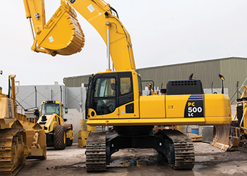 The new excavator has been mainly designed for quarry work.
