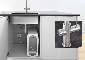 Grohe Blue Home ... designer tap mixer combined with a high-performance filter, cooler and carbonator.