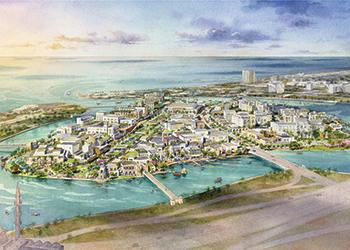 Maryam Island ... a $615-million mixed-use development.