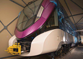 The first of Alstom's new trainsets ... handed over.