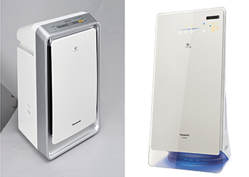 F-VXL40M and F-VK655M (right) ... Panasonic's signature air purifiers.