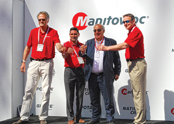 At Conexpo ... Manitowoc Cranes held a special ceremony for NFT.