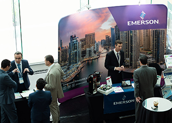 Emerson at the 2017 Retrofit Tech UAE summit.