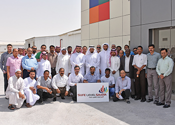 Sure Level Saudia team ...  provides support to Trass Building Materials.