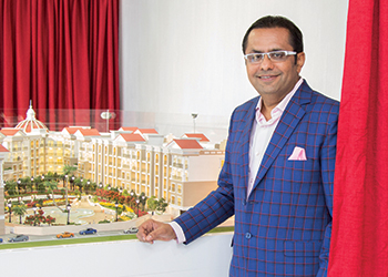 Danube Properties chairman Rizwan Sajan unveils the property.