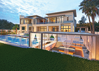 One of the villas fitted out by Draw Link at  The Dubai Hills Estate.