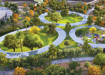 Dubai's largest park ... set to take shape.