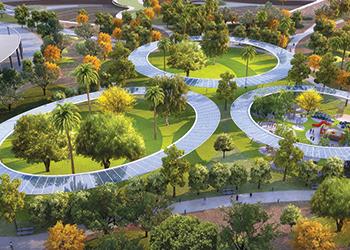 Dubai's largest park ... set to take shape.