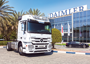 Daimler Commercial Vehicles Mena last year marked a major milestone with the sale of the 100,000th Mercedes-Benz Actros in the region to Al Khaldi.