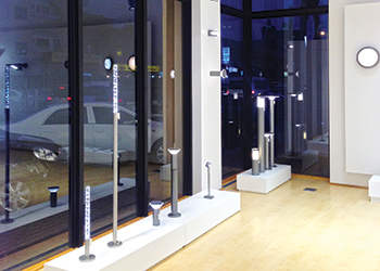 iGuzzini products ... on display at the Al Bait showroom.