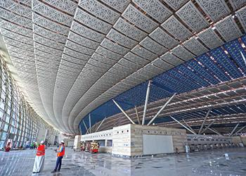 King Abdulaziz International Airport Jeddah ... nearing completion.