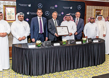 Daimler, Mercedes-Benz Trucks, Al Khaldi and Jipco officials at the signing ceremony.