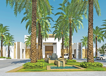 The Four Points by Sheraton Unaizah ... integrates date palms into the resort.