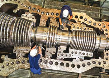 A Siemens SST-800 steam turbine.