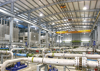 The Shuaiba plant will deliver 250,000 cu m of water per day.