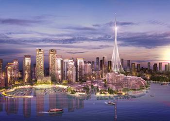 The Tower ... a focal point of Dubai Creek Harbour development.
