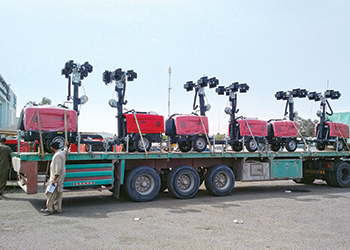 Chicago Pneumatic has supplied 25 CPLT V15 LED models for a key project in Kuwait.