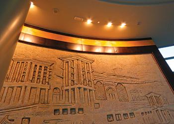 The lobby at Dubai Silicon Oasis ... lighting by Feilo Sylvania.