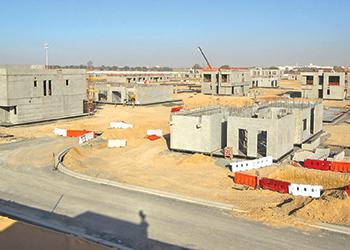 The Al Narjis neighbourhood at Al Zahia ... under construction.