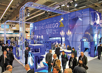 Ziehl-Abegg's stand at ISH 2017.
