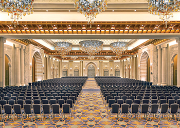 The largest pillarless ballroom in Makkah.