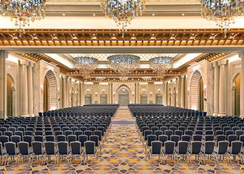 The largest pillarless ballroom in Makkah.