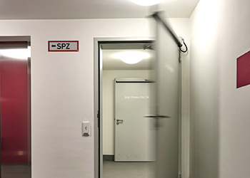A Hormann automatic hinged door.