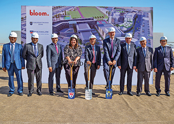 Officials break ground on the campuses.