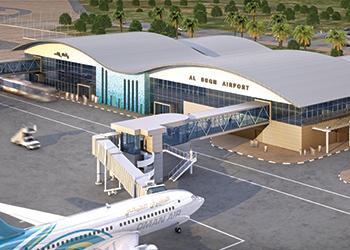Duqm Airport terminal ... a rendition.