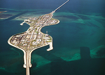 The existing King Fahd Causeway has been open since 1986.