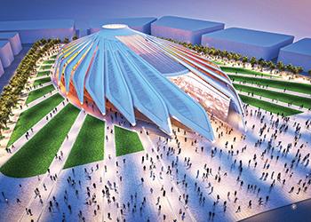 The UAE national pavilion ... a rendition.