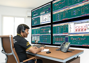 The new BMS allows intensive monitoring and control of the entire HVAC system.