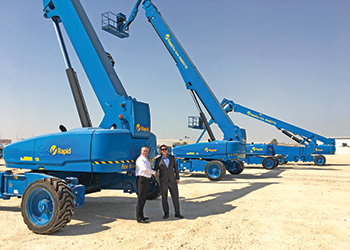 Rapid Access takes delivery of the first of 334 boom lifts.