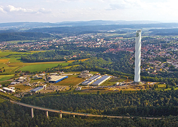 Thyssenkrupp has installed the first functional Multi at a 246-m-tall test tower in Rottweil, Germany.