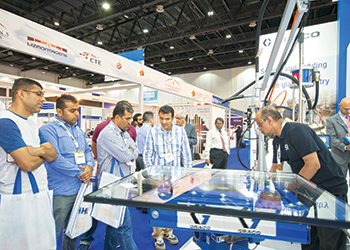 Visitors at a previous edition of Gulf Glass.
