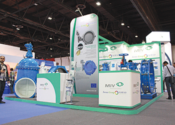 A stand at Wetex 2015.