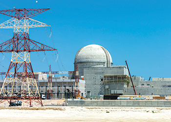 The UAE's first nuclear power plant ... well in progress.