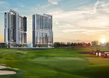Golf Vita residential towers at Damac Hills.