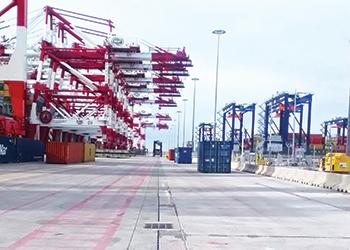 Ultraslot, part of Gatic's Slotdrain range, installed at Barcelona Port.