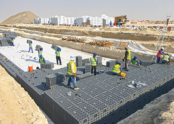 Polystorm ... being installed at Jebel Ali Hills project.