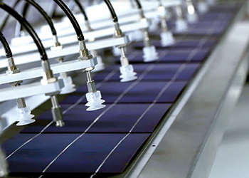 Solar One panels are made using a fully-automated process.