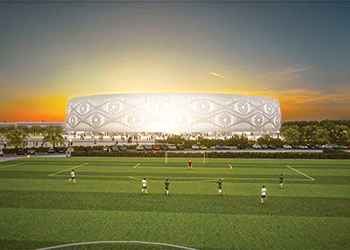 The Thumama stadium ... designed to resemble the Arab headdress.