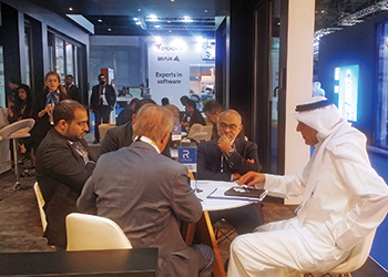 The Reynaers stand at Windows, Doors and Facades in Dubai.