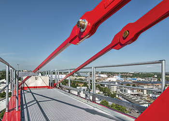 The new saddle jib crane will be available with three different tower connections per version.